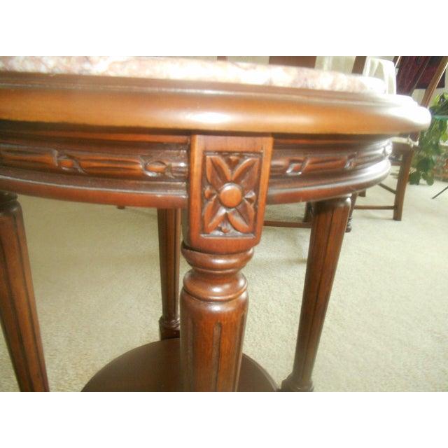 Vintage Rose Marble Top Pedestal Table - Image 5 of 5