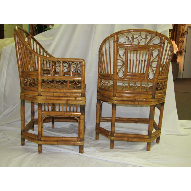 Tortoise Bent Bamboo Arm Chairs - A Pair - Image 4 of 5