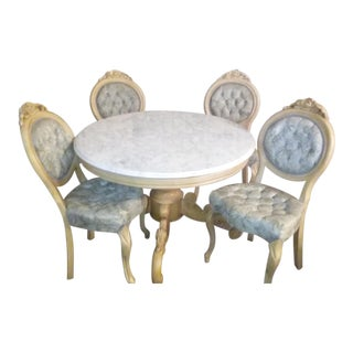 Italian Marble Dining Set For Sale