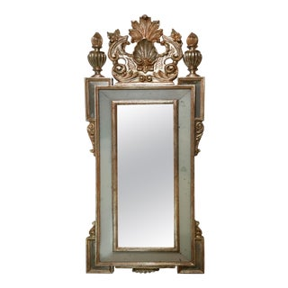 Mid 20th Century Giltwood Mirror with Églomisé Inserts For Sale