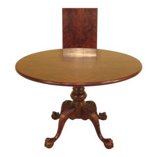 Henredon Round Clawfoot Mahogany Dining Room Table