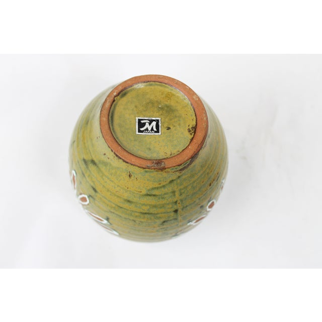 1960s Japanese Green Floral Vase - Image 4 of 4