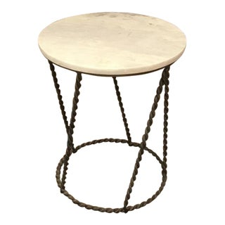 Gabby Modern Marble Top Side Table