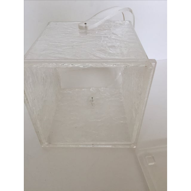 Lucite Chopped Ice Deisgn Ice Bucket - Image 6 of 7
