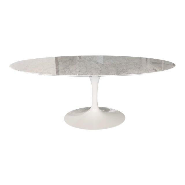 Saarinen Oval Dining Table Chairish - White saarinen oval dining table