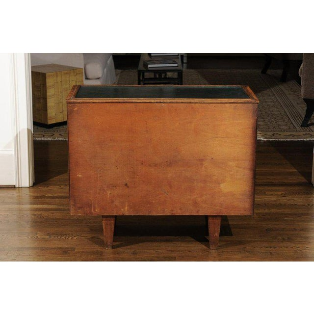 Chic Restored Art Deco Commode in Bamboo and Black Lacquer, Circa 1940 For Sale - Image 10 of 12