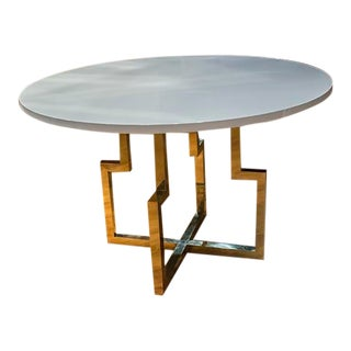 Italian Brass and Lacquer Centre Table For Sale