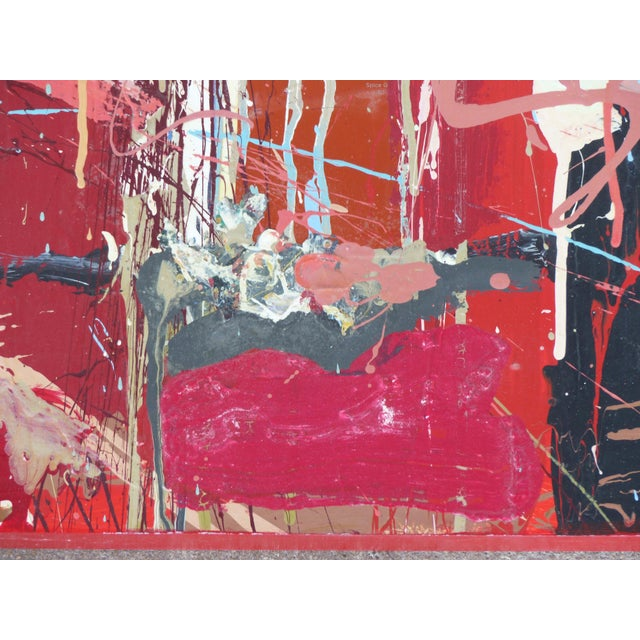 """William P. Montgomery Abstract Mixed Media Painting """"Cornucopia 2"""" on Wood For Sale - Image 11 of 13"""