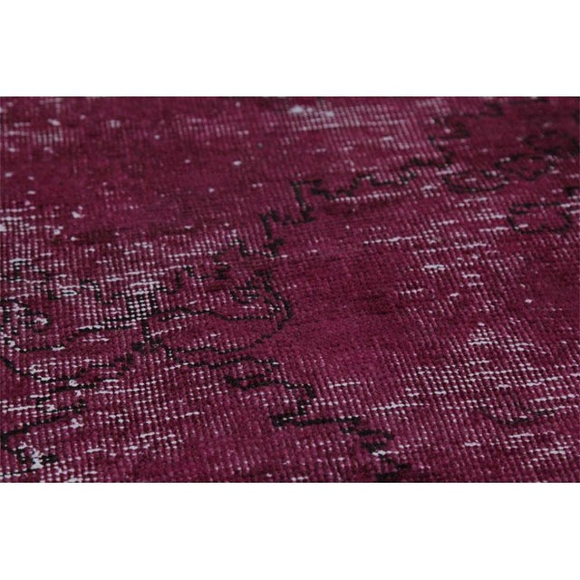 """Modern Industrial Style Distressed Over-Dyed Persian Tabriz Rug - 9'3"""" x 12'1"""" For Sale - Image 12 of 13"""
