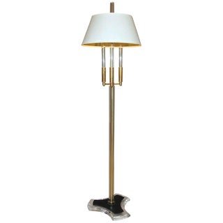 1980s Modern Style Brass and Acrylic Floor Lamp For Sale