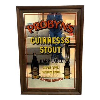Mid-20th Century Probyn's Guinesss Stout Mirror For Sale