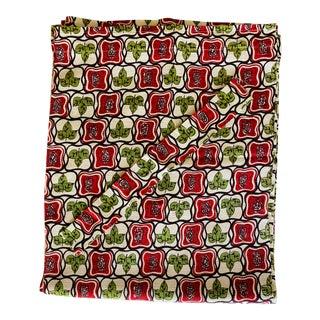 Mid-Century Modern Cotton Bark Cloth Curtain Panels, Set of 4 For Sale