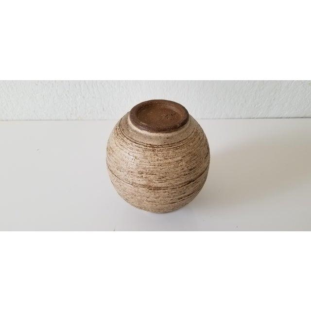 Ceramic Mid-Century Studio Pottery Bud Vase , Signed . For Sale - Image 7 of 8