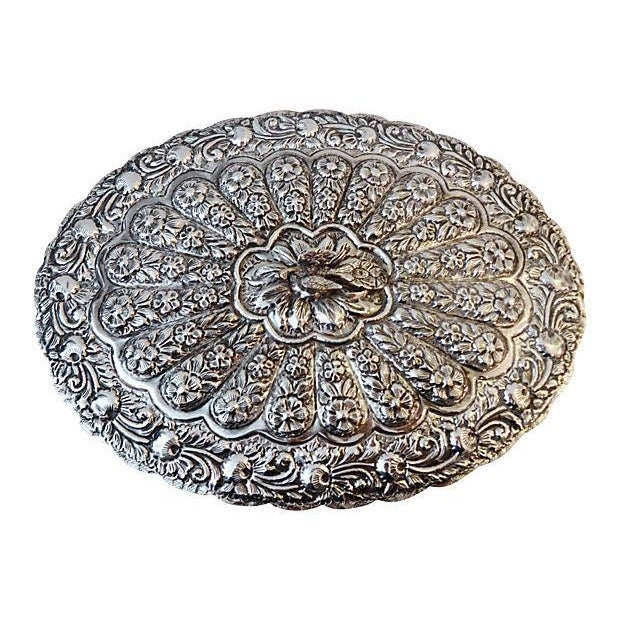 Large Silver Hand Mirror - Image 1 of 6