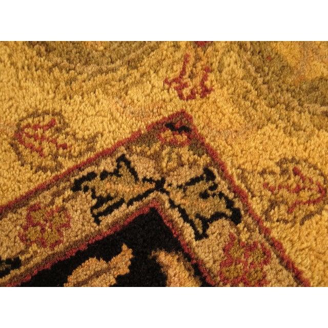 1990s Vintage Black & Gold Wool Rug - 6' X 9' For Sale - Image 5 of 11