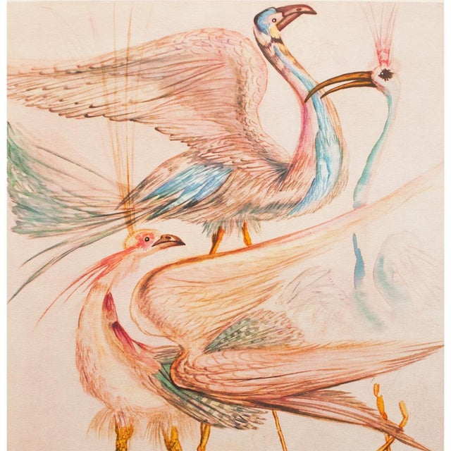 """Modern 1952 Dali, Original Period """"Birds"""" Lithograph From the Mrs. Albert D. Lasker Collection For Sale - Image 3 of 10"""