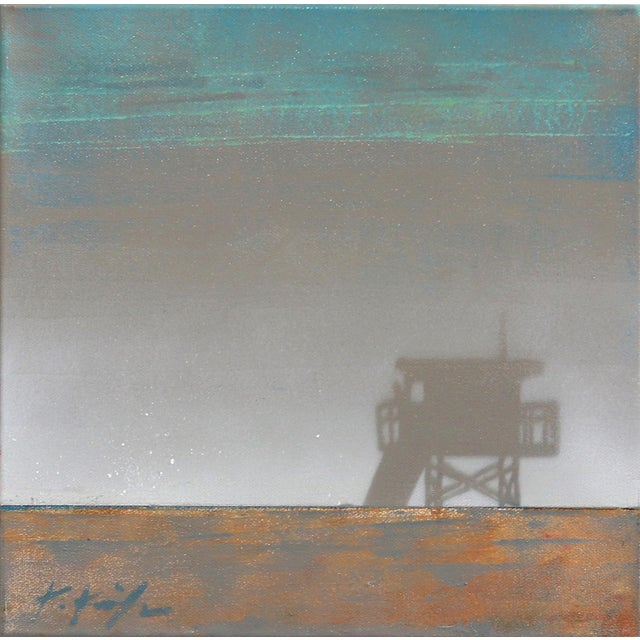 "Original Beach Inspired Artwork by Kathleen Keifer ""Grey Ghost"" For Sale"