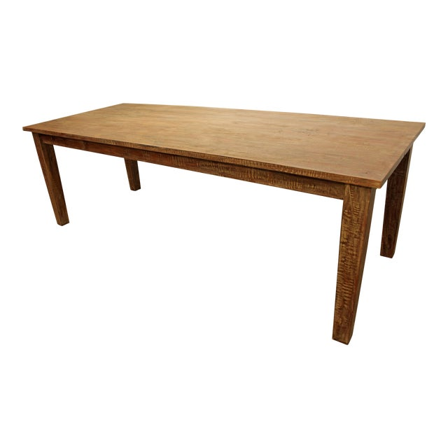 """French Country Farm Rustic Dining Table 90"""" Long - Image 1 of 11"""