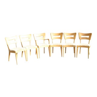 1950s Mid-Century Modern Heywood-Wakefield Dining Chairs - Set of 6