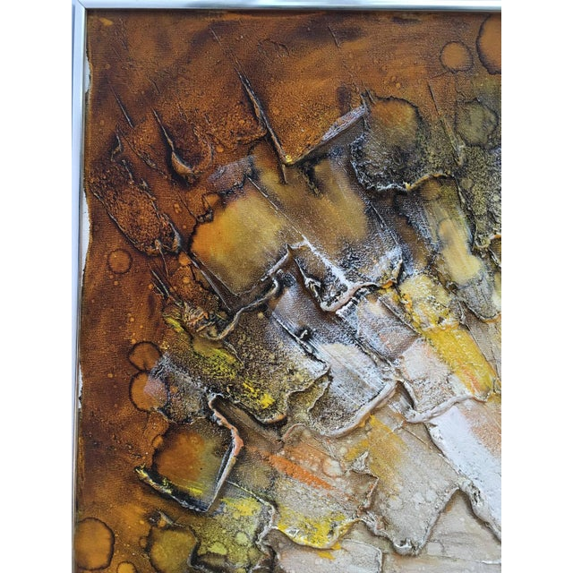Mid-Century Abstract Modern Painting, Signed - Image 9 of 9