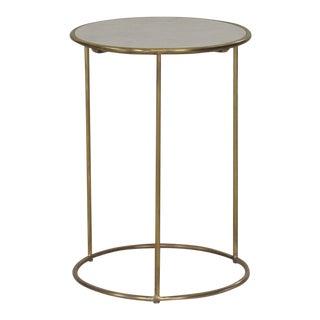 Sarreid Ltd Brass & Marble Side Table For Sale