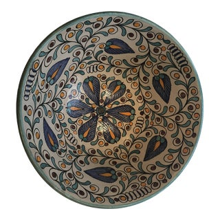 Moroccan Large Floral Patterned Bowl For Sale