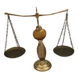 Image of 1980s Vintage Brass Scales For Sale
