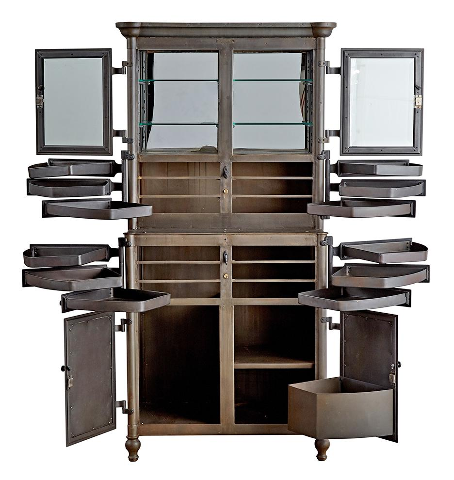 Petite Steel Medical Cabinet By Lee Smith U0026 Son Circa 1910   Image 3 ...