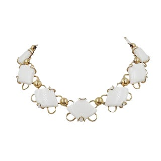 1950s Napier White Resin Necklace For Sale