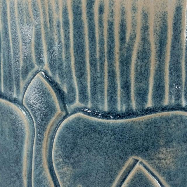 Not Yet Made - Made To Order English Rose Arts & Crafts Design Porcelain Pottery Vase For Sale - Image 5 of 6