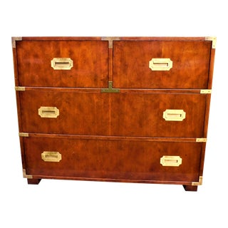 Vintage Baker Furniture Campaign Chest of Drawers For Sale
