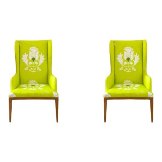 Dana Gibson Wingback Chairs - a Pair For Sale