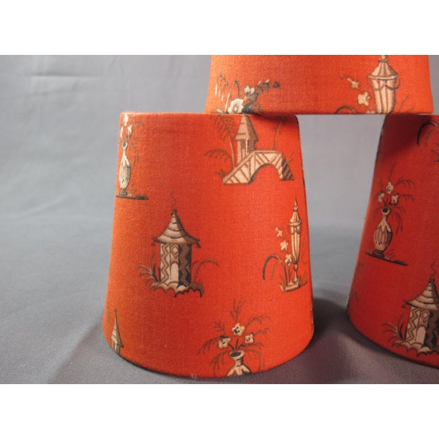 Vintage Fabric Chandelier Shades - Set of 6 For Sale - Image 4 of 5