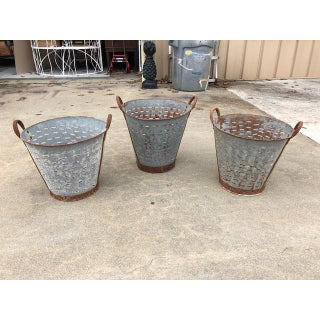 1970s Vintage Olive Buckets - Set of 3 Preview