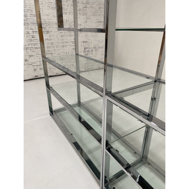 1970s 1970s Milo Baughman Style Chrome Etagere For Sale - Image 5 of 13