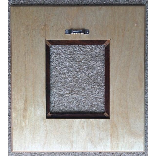 Custom Handmade Exotic Wood Inlaid Frame - Image 4 of 5