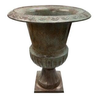 Vintage Metal Urn For Sale