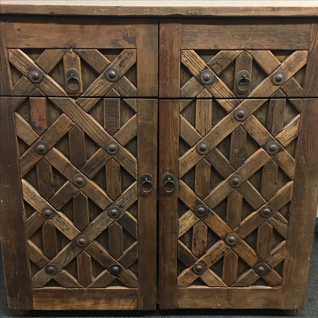 Vintage Saxon Wine Wood Cabinet - Image 11 of 11
