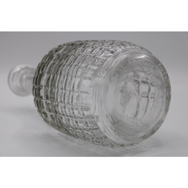 Antique English Crystal Cruet Two Bottle Decanter Set For Sale - Image 6 of 10