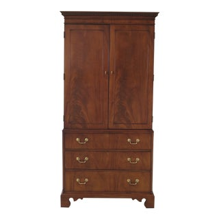 Vintage Hickory Chair Co James River Mahogany Bedroom Armoire Chest For Sale