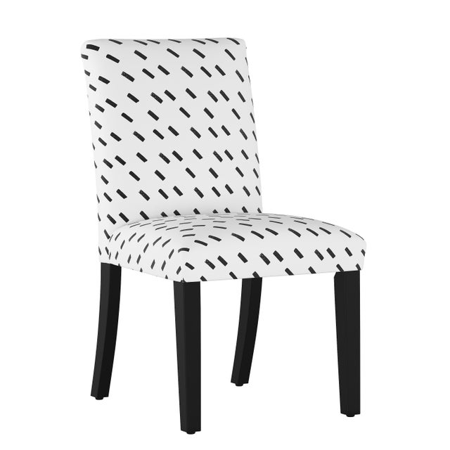 Dining Chair in Charcoal Dash White Oga For Sale In Chicago - Image 6 of 7