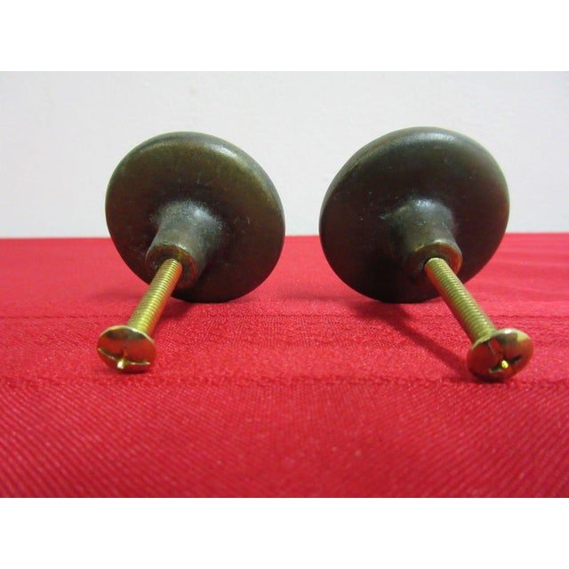 Henredon Henredon Brass French Country Drawer Handles - a Pair For Sale - Image 4 of 4