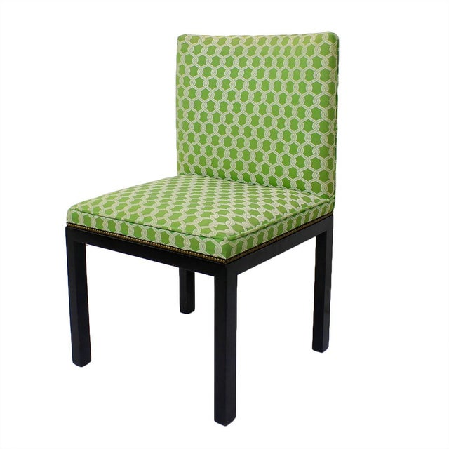 Green Accent Chairs - A Pair - Image 1 of 7