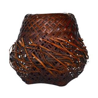 Antique Japanese Woven Ikebana Basket For Sale
