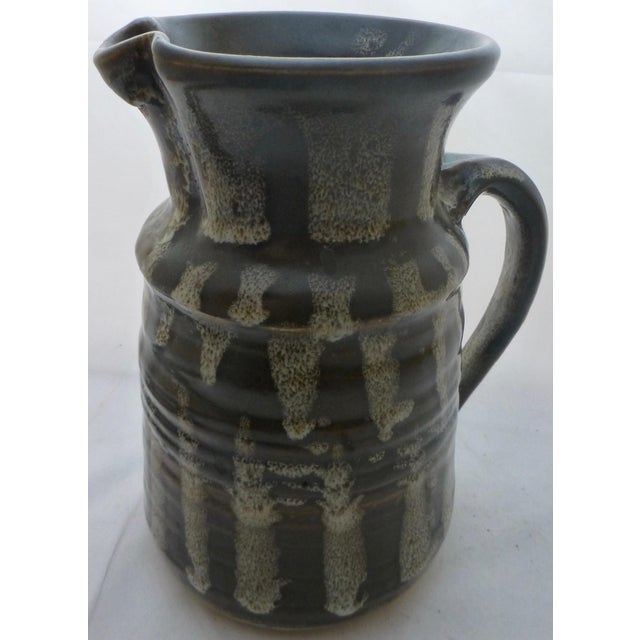 Mid-Century Studio Pottery Water Pitcher For Sale In Boston - Image 6 of 10