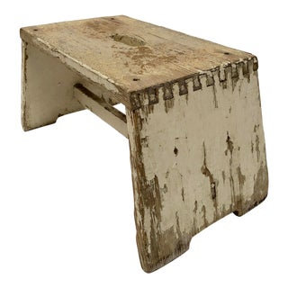 Early 20th Century Antique French Handcrafted Milking Stool For Sale