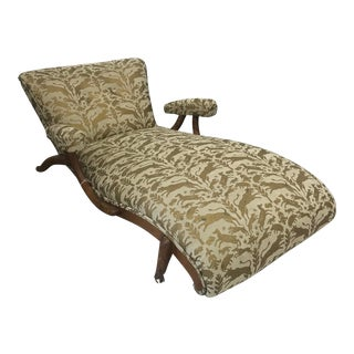 1950s Italian Otomi Style Upholstered Lounge Chair For Sale