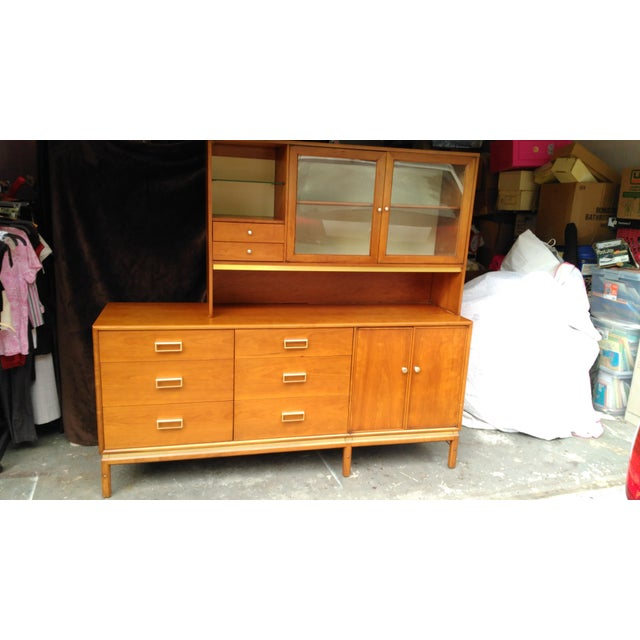 Kipp Stewart for Drexel Sun Coast Credenza With Hutch For Sale - Image 11 of 11
