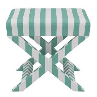 X Bench in Jade Stripe For Sale