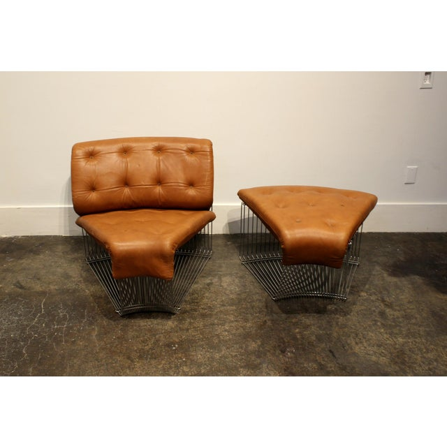 Mid-Century Modern Verner Panton for Fritz Hansen Pantonova Leather Lounge Chair and Ottoman For Sale - Image 3 of 12